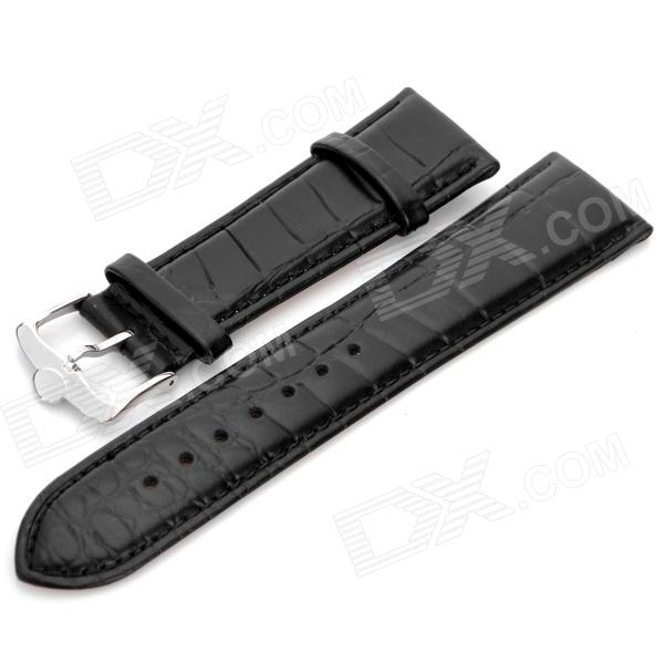EY-03 Replacement Artificial Leather Watchband - Black