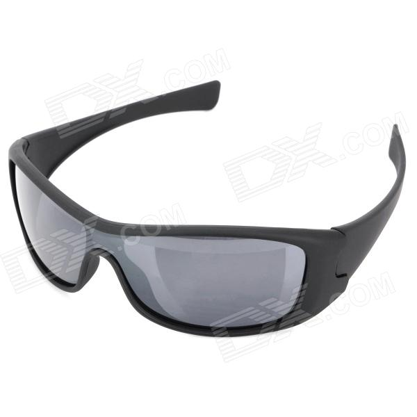 Stylish UV400 Protection Sports Cycling Sunglasses - Black