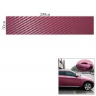 Woven Pattern 3D Carbon Fiber Paper Decoration Sheet Car Sticker - Purple (50 x 200cm)