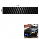Woven Pattern 3D Carbon Fiber Paper Car Sticker - Black (50*200cm)