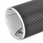 Woven Pattern 3D Carbon Fiber Paper Decoration Sheet Car Sticker - Black (50 x 200cm)