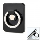Universal Mini Key Ring 360 Degree Rotatable Holder Mount for Ipad / Iphone / Ipod - Black