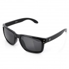 OREKA UV400 Protection Fashion Grey Resin Lens Polarized Sunglasses - Black