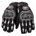 Stylish Full-Finger Racing Gloves -Black (Pair / L-Size)