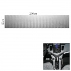 Woven Pattern 3D Carbon Fiber Paper Decoration Sheet Car Sticker - Silver (50 x 200cm)