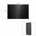 Woven Pattern 3D Carbon Fiber Paper Decoration Sheet Car Sticker - Black (20 x 30cm)