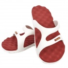 Fashion EVA Massage Flip-Flogs Sandals - Red + White (Pair / Size-40)