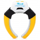 Portable USB Vibration Cooling Neck Massager - Yellow (2 x AAA)