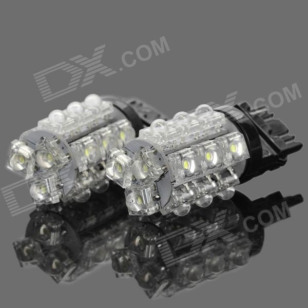 1.5W 180~198lm 7000~8000K 18-LED White Light Car Steering / Brake Lamp (Pair)