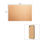 Woven Pattern 3D Carbon Fiber Paper Decoration Sheet Car Sticker - Golden(20 x 30cm)