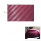 Woven Pattern 3D Carbon Fiber Paper Decoration Sheet Car Sticker - Purple (20 x 50cm)