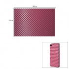 Woven Pattern 3D Carbon Fiber Paper Decoration Sheet Car Sticker - Purple (20 x 30cm)