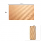 Woven Pattern 3D Carbon Fiber Paper Decoration Sheet Car Sticker - Golden (12 x 20cm)