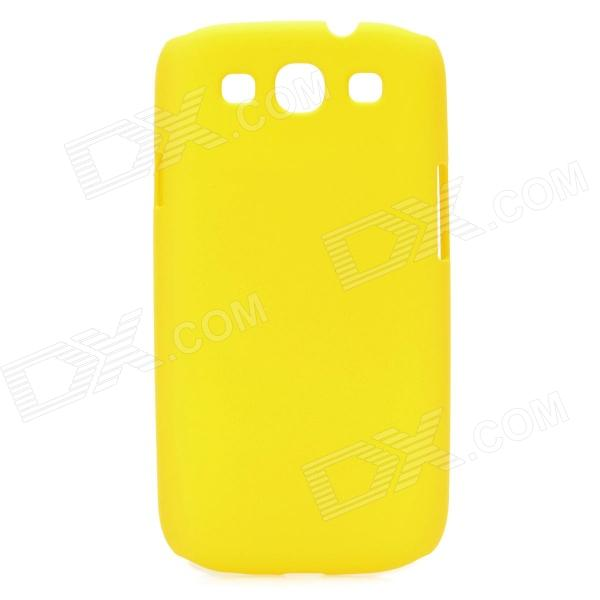 Protective Plastic Back Case for Samsung Galaxy S3 i9300 - Yellow kinston colorful flowers and butterflies pattern plastic protective case for samsung galaxy s3 i9300