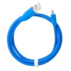 USB 2.0 Data/Charging Cable with Micro USB Port for HTC / Samsung / Motorola / ZTE + More - Blue
