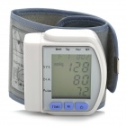 1.7″ LCD Pulse Scanning Wrist Watch Blood Pressure Monitor -Silver (2 x AAA)
