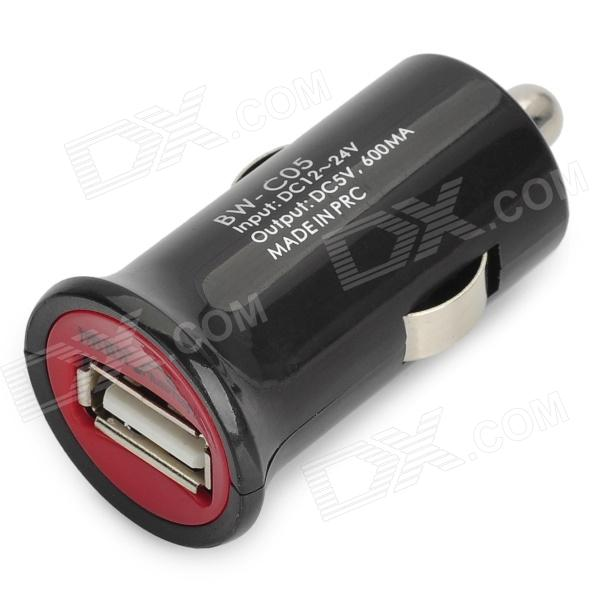 Car Cigarette Powered Adapter Charger with Cellphone Adapters - Black