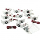 SL-340 0.5W 35LM Cool White LED Decoration / Clearance Bulbs (12V / 10-Piece Pack)