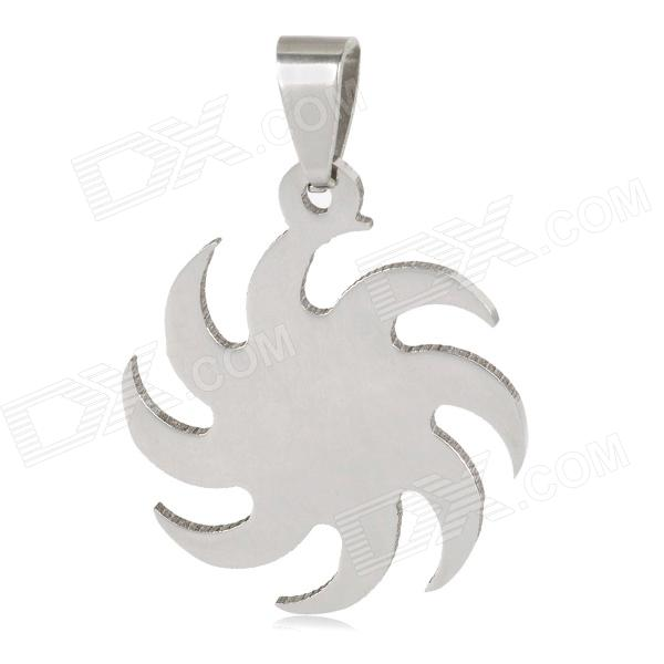 Stylish Men's Stainless Steel Necklace Pendant - Silver