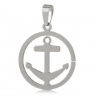 Unique Men's Pirate Style Stainless Steel Necklace Pendant - Silver