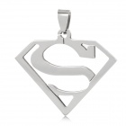 Unique S Pattern Stainless Steel Necklace Pendant - Silver