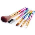 ABS + Fiber Cosmetic Makeup Brush - Multicolored (5-Piece Pack)