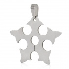 Fashion Men's Stainless Steel Necklace Pendant - Silver