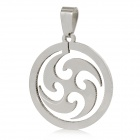 Unique Army Style Stainless Steel Necklace Pendant - Silver