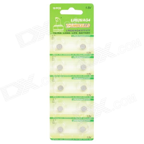 все цены на AG4 / LR626 1.5V Alkaline Cell Button Batteries (10-Piece Pack) онлайн