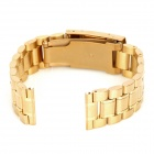 QG-011 elegante reloj de pulsera de acero inoxidable Watch Band - Golden