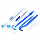 6-in-1 Oral Tooth Care Set - Blue