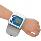 "1.7"" LCD Pulse Scanning Wrist Watch Blood Pressure Monitor - Blue + White (2 x AAA)"