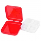 Red Cross Pattern Portable Medicine Organizer Box - Red (4-Grid)
