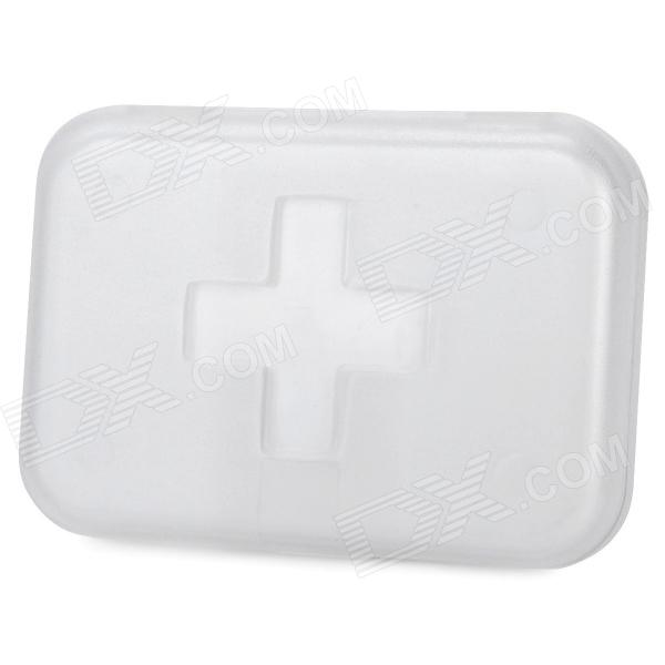 Cross Pattern Portable Medicine Organizer Box - White (6-Grid)