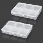 YH-05 Plastic Medicine Organizer Box - White (6-Grid)