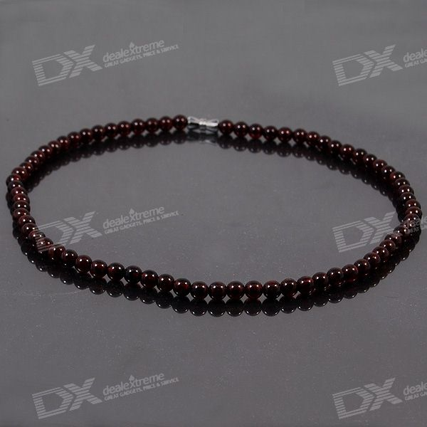 Stylish Natural Health-Promoting Garnet Necklace (40cm) natural rhodolite garnet wide stretch bracelet