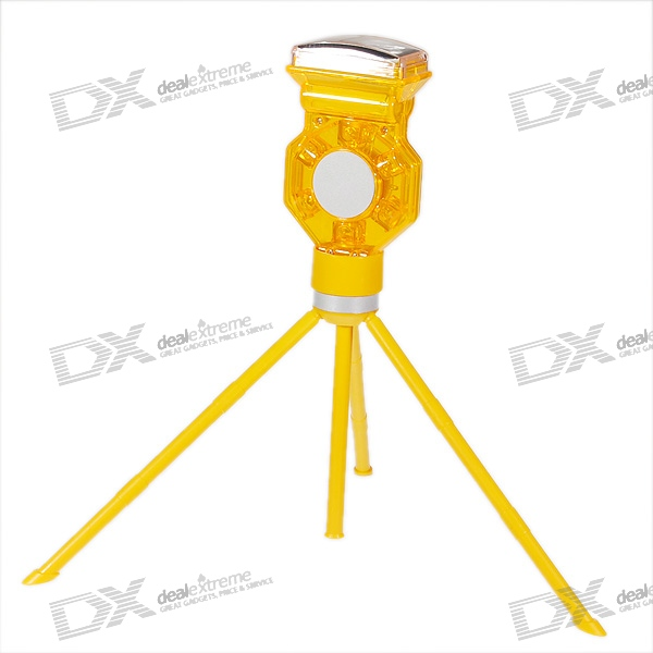 Solar Power 6-LED Roadside Safety and Emergency Warning Light with Tripod Set