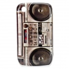 Retro Radio Style Protective Case for BlackBerry 8520 / 8530 - Black + Grey