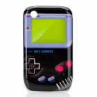 Retro Game Boy Style Protective Case for BlackBerry 8520 / 8530 - Black + Yellow