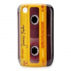 Retro Cassette Tape Style Protective Case for BlackBerry 8520 / 8530 - Yellow + Black