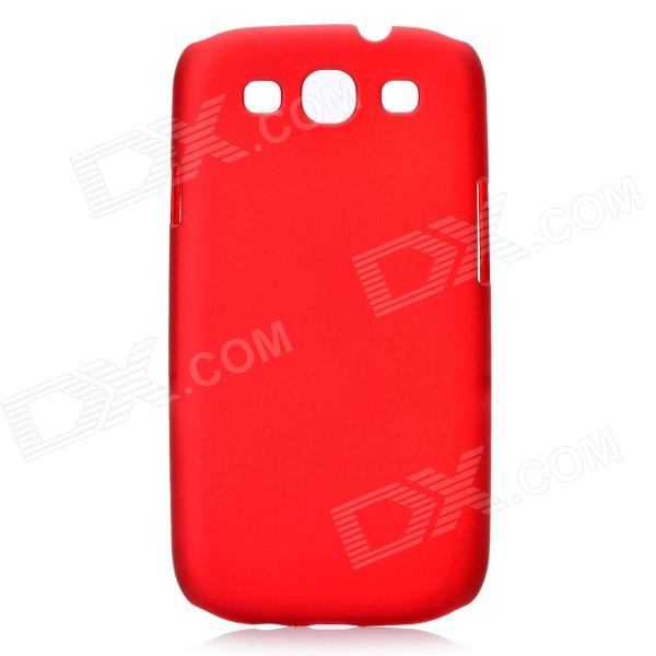 Protective Plastic Back Case for Samsung Galaxy S3 i9300 - Red protective aluminum alloy pc back case for samsung galaxy note 3 n9000 more red black