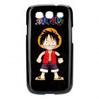 One Piece Luffy Pattern Protective Plastic Case for Samsung Galaxy S3 i9300 - Black + Red