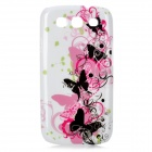 Elegant Butterfly Pattern Protective Case for Samsung Galaxy S3 i9300 - White + Black + Pink