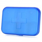 Cross Pattern Portable Medicine Organizer Box - Blue (6-Grid)