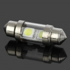 Festoon 33mm 1.2W 80lm 6000~7000K 2-SMD LED Car White Light Lamp (10~15V)
