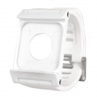 LunaTik Silicone Watch Band Case with Screen Protector Film for iPod Nano 6 - White
