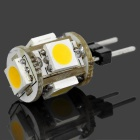 G4 1.2W 65~76lm 3000~3500K 5x5050 SMD LED White Light Lamp (12V)