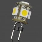 G4 1.2W 65~76lm 3000~3500K 5x5050 SMD LED Warm White Light Lamp (12V)