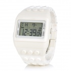 Unique Plastic Band Square Digital Display Wrist Watch - White (1 x LR626)