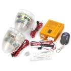 Motorcycle Anti-Theft MP3 Audio Alarm System w/ Speakers with 3-LED Lights / Remote Controller